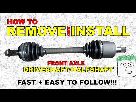 CV FRONT axle REMOVE and INSTALL Half shaft