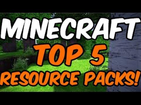 Minecraft ~ TOP 5 RESOURCE PACKS! (Texture Packs) 1.7.10