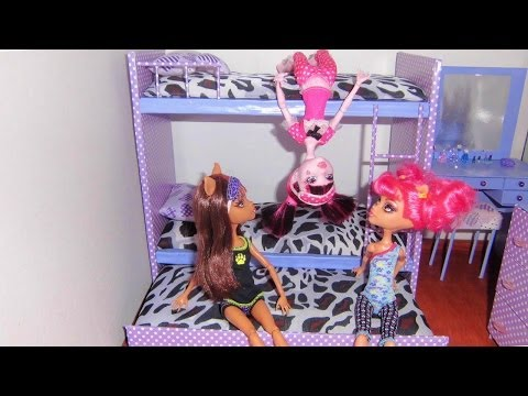 How to make a bunk bed for doll (Monster High. Barbie. etc)