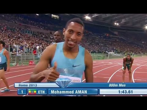 Mohammed Aman wins 2nd 800m race, Solomon Fades in Rome