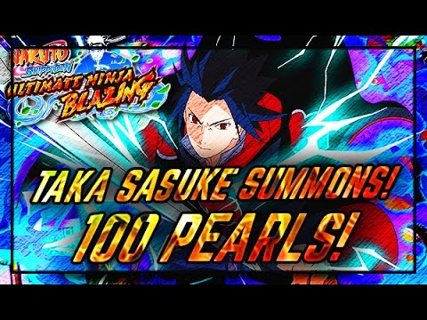 100 Pearl Summons W/Unidentified Ego! Taka Sasuke Summons! Naruto Shippuden Ultimate Ninja Blazing