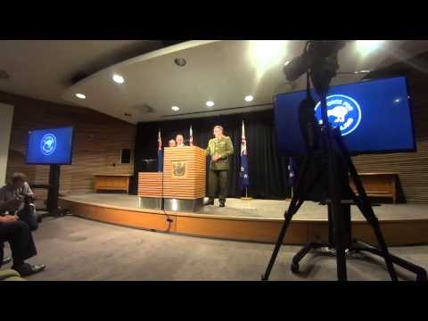 NZ PM John Key & CDF Tim Keating Presser On ISIS Deployment 24th Feb 2014