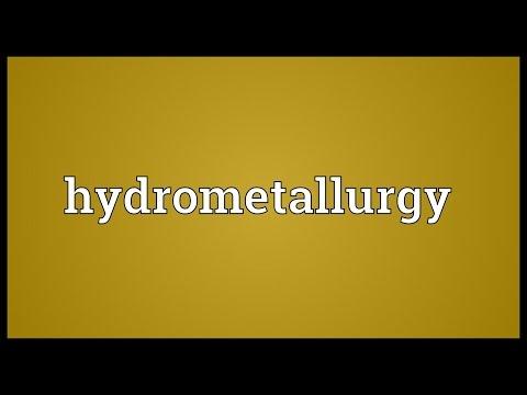 Header of hydrometallurgy
