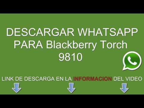 Descargar e instalar whatsapp para Blackberry Torch 9810 gratis