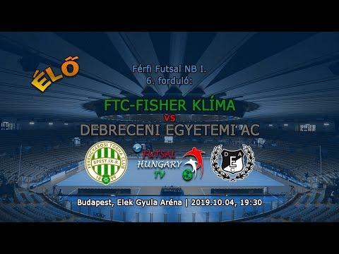 Férfi Futsal NB I: FTC-Fisher Klíma - Debreceni Egyetemi AC (2019.10.04, stream)