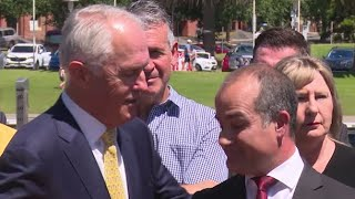 Malcolm Turnbull and acting Victorian premiers awkward exchange on youth gangs