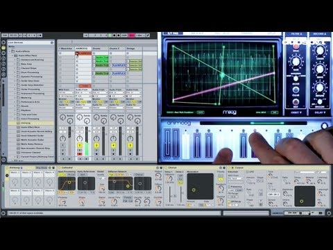 Using Moog Animoog w/ Ableton Live - iPad / iOS Sound Design Tutorial Pt 3