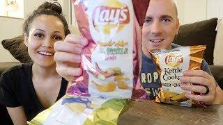 Tasting Weird Flavor Chips