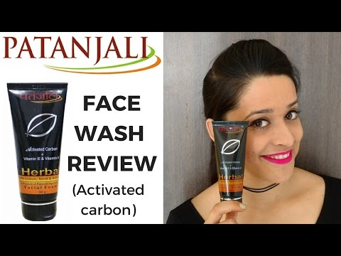 Review: Patanjali activated carbon facial foam   Face wash for Oily Skin