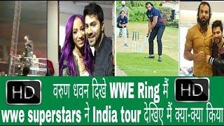 varun dhawan in wwe, varun dhawan having fun with WWE Superstars! wwe india tour highlights HD
