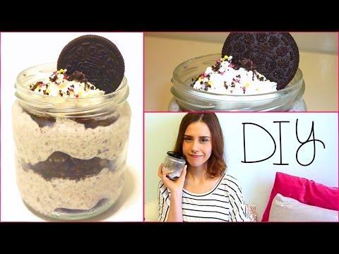DIY Oreo cheesecake ICE CREAM in a jar!