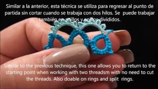 Frivolite Tatting Lesson 166 - continuous and double continuous thread join