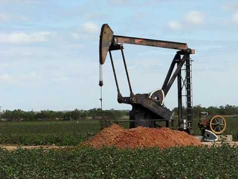Oil Well Along Interstate 20 In West Texas Video