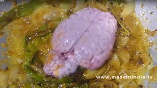 VILLAGE STYLE GOAT BRAIN FRY | MUTTON BHEJA FRY | Lamb Brain Fry street food