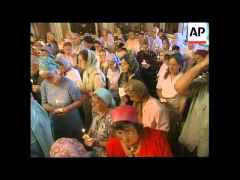 Church service in Moscow on eve of Kursk anniversary