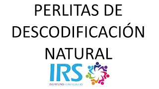 Descodificación Natural INFANTIL- ALERGIAS- Instituto IRS