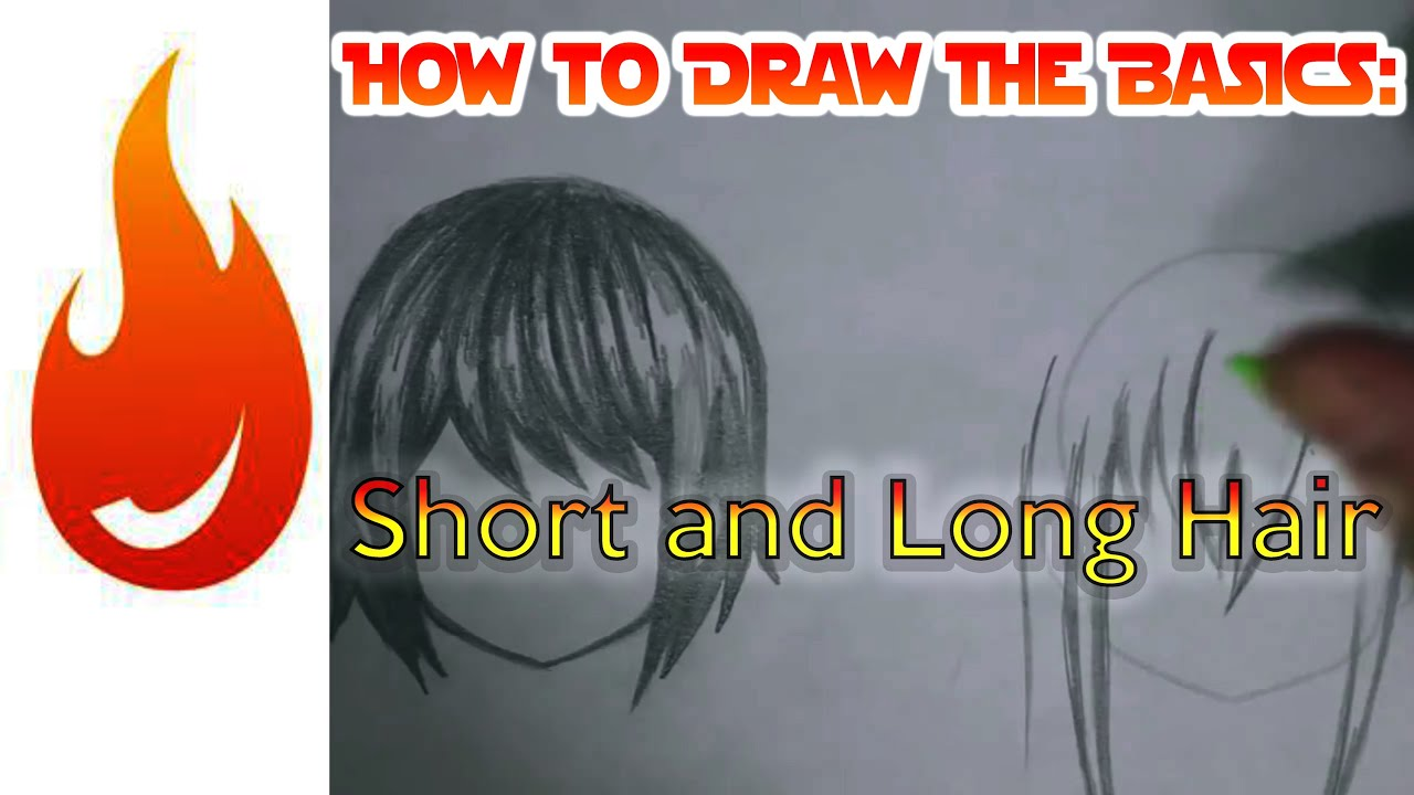 how to draw simple short and long hair  u2605 tutorial  u2605