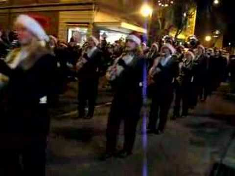 Turner Ashby High School Marching Band Performs in Christmas Parade