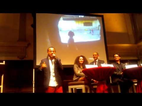 Egyptian rapper and singer Sadat at the Henriette van Lynden lecture May 21st 2013