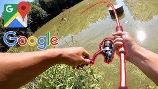 CRAZY GOOGLE MAPS FISHING CHALLENGE!!! (Surprise Catch)