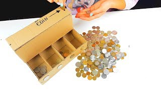 DIY how to make Coin Sorting Machine from Cardboard