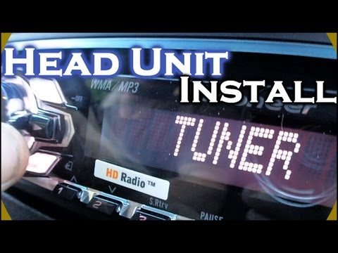 Installing Pioneer Head Unit | How To Install a DEH-4400HD Car CD Player | Dash Kit & Wiring Harness