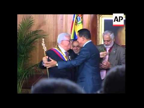 Palestinian leader, Abbas meets with President Chavez, s'bites