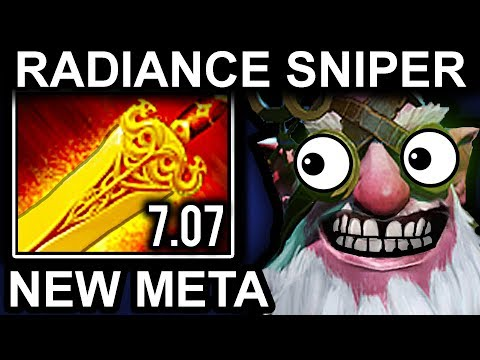 RADIANCE SNIPER - DOTA 2 PATCH 7.07 NEW META PRO GAMEPLAY