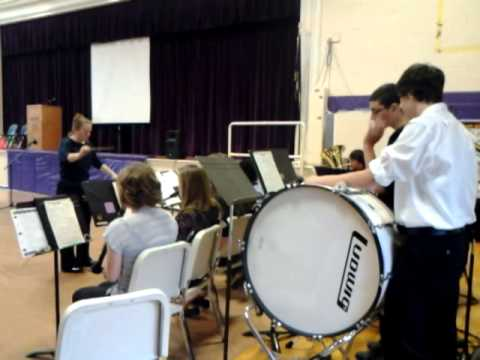 Nute High School band plays patriotic medley