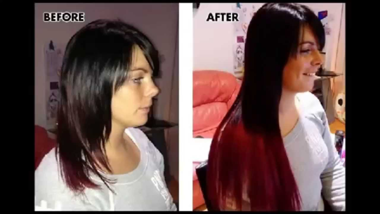 Hair Clip Extensions Before And After Clip on Hair Extensions Before