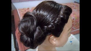 A Very Simple, Easy but Beautiful and Classy Side Bun with Front Twisted braid for Parties.