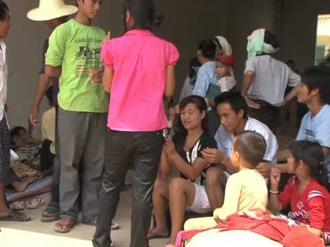 Myanmar ethnic refugees in China following clashes