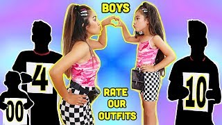 Boys RATE Our TWINNING Outfits 1-10 *Gone Bad* | Jancy Family