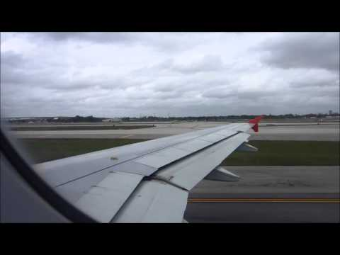 Spirit Airlines Flight 833 Airbus A320 Fort Lauderdale Takeoff *Noisy PTU During Engine Start*