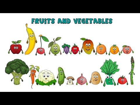 Learn about Fruits and vegetables - Fruits and vegetables-Lesson for Kids-Preschool Learning-