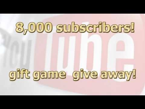YouTube giveaway - 8,000 subscribers milestone steam games give away iPlay4K