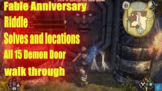 Fable Anniversary All 15 Demon Door Riddle Solves and locations Walkthrough