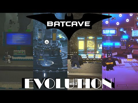 Batcave Evolution in Lego Videogames (2008 - 2017)