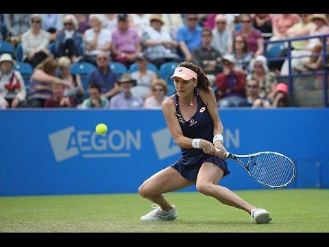 2016 Aegon International Round of 16 | Agnieszka Radwanska vs Genie Bouchard | WTA Highlights