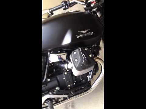 Moto Guzzi V7 Stone with La Franconi exhaust, Breva windscr