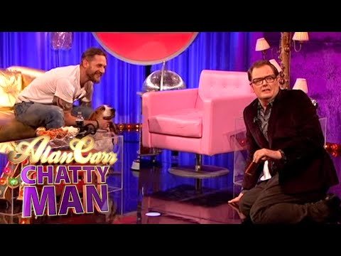 Tom Hardy Holding Dogs - Alan Carr: Chatty Man