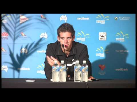 Del Potro press conference (10/1/11): Medibank International Sydney