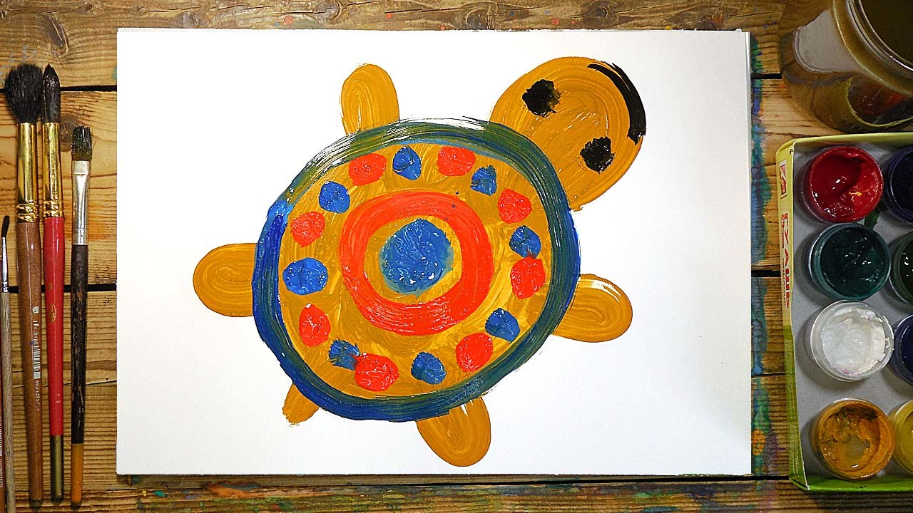 Рисунки нарисованные красками для детей