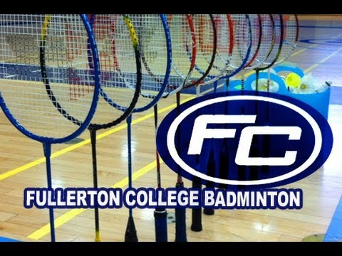 Fullerton College Women's Badminton vs Irvine Valley College 2013