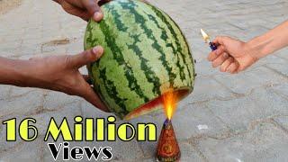 Watermelon vs Anar Experiment || Watermelon Melt or not || Experiment king
