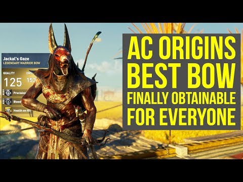 Assassin's Creed Origins Best Bow FINALLY OBTAINABLE - Jackal's Gaze (AC Origins Best Bow)
