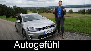 "Volkswagen VW Golf GTE 2015 Plugin-Hybrid test drive review of the ""blue GTI"" - Autogefühl"