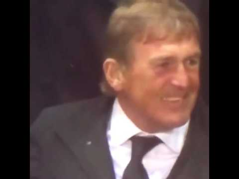 Kenny Dalglish cries after the end of match against Dortmund (14/04/2016)