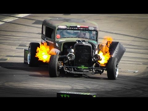 Epic 1929 Ford Rat Rod Drift Show