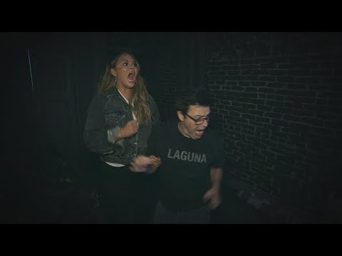 Chrissy Teigen & Average Andy Go Through a Haunted House